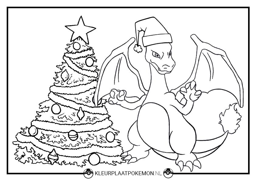 Kleurplaten Kerst Liedjes.Charizard Kleurplaten Gratis Printen Kleurplaat Pokemon