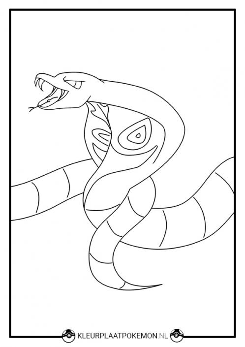 Kleurplaat van Arbok uit Pokémon