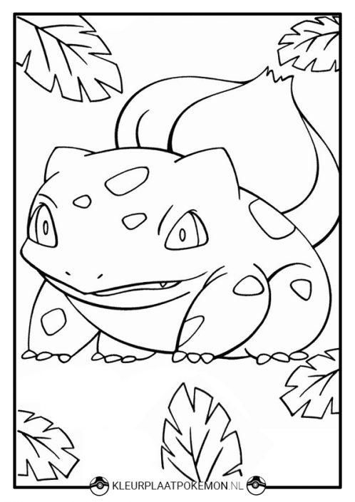 Kleurplaat Bulbasaur