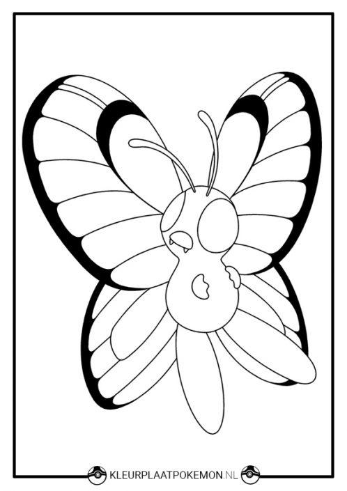 Kleurplaat Butterfree