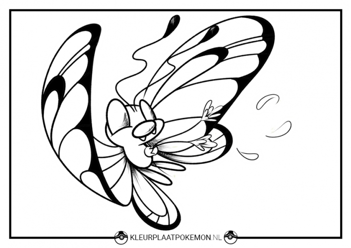 Butterfree kleurplaat