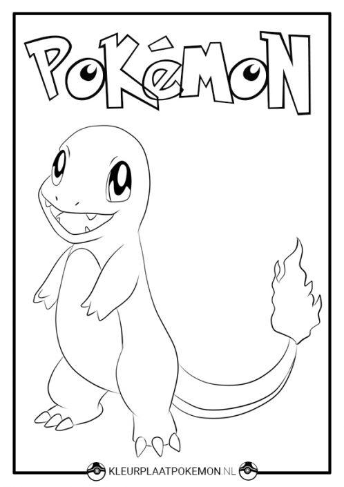 Charmander kleurplaat pokemon