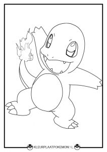 Charmander kleurplaat pokemon