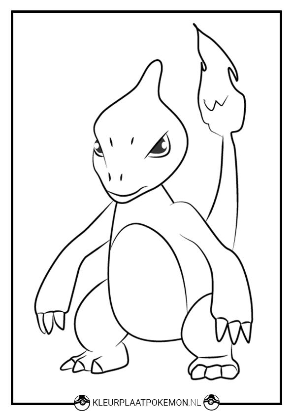 Pokemon Mewtwo Kleurplaat Charmeleon Kleurplaten Gratis Printen Kleurplaat Pok 233 Mon