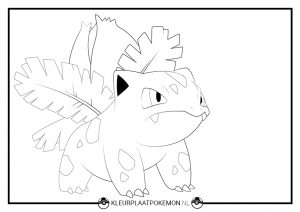 Kleurplaat Ivysaur