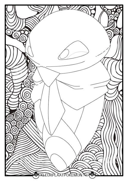 Kleurplaat Kakuna met lijnen