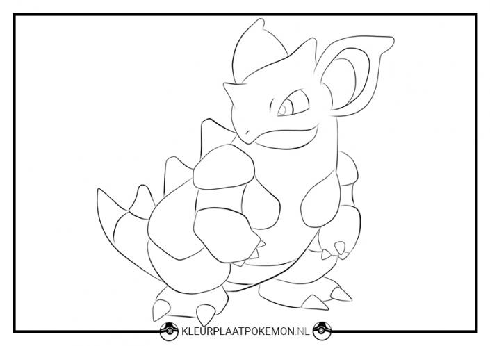 kleurplaat nidoqueen pokemon
