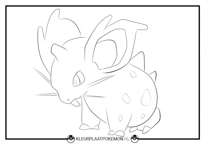 kleurplaat nidoran vrouwelijke pokemon