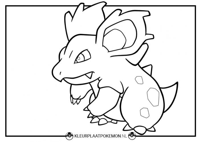 kleurplaat nidorina pokemon