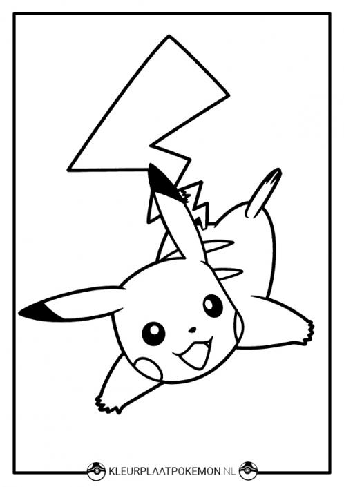 Kleurplaat Pikachu