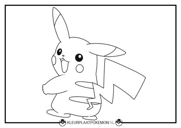 Kleurplaat Pikachu Pokémon