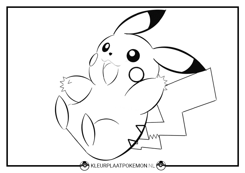 Kleurplaat Printen Pokemon 60 Pikachu Kleurplaten Kleurplaat Pok 233 Mon
