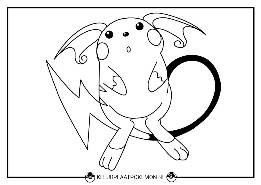 Pokemon Squirtle Kleurplaten Raichu Kleurplaten Downloaden Kleurplaat Pok 233 Mon