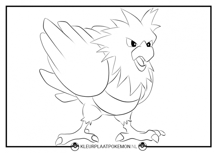 kleurplaat spearow pokemon