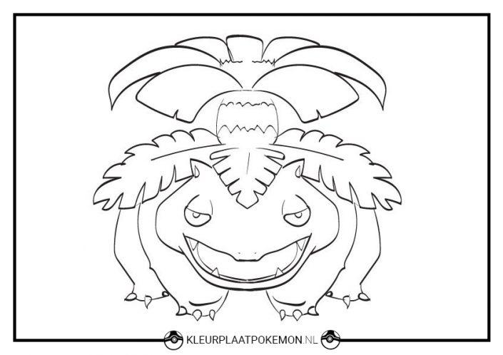 Venusaur kleurplaat
