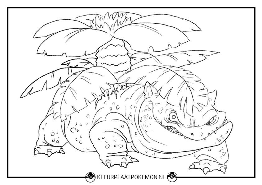 Ingekleurde Kleurplaten Van Pokemon.Venusaur Kleurplaten Gratis Printen Kleurplaat Pokemon