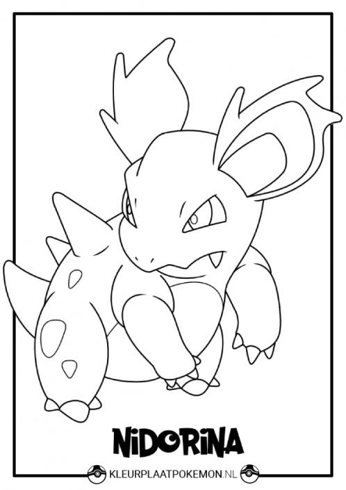nidorina kleurplaat pokemon