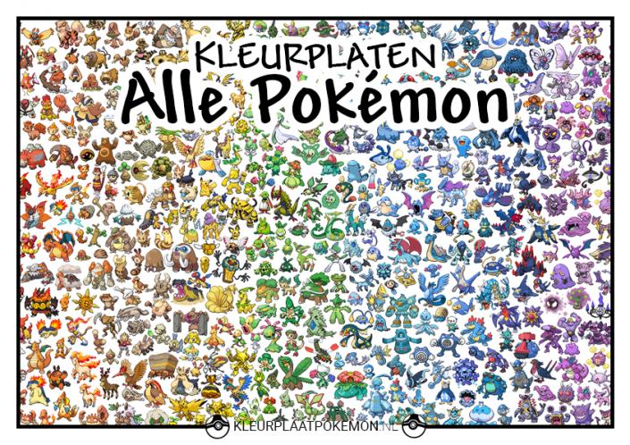 Pokemon alle generaties kleurplaten