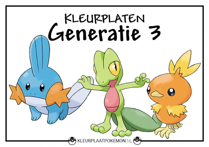 Pokemon generatie 3 kleurplaten