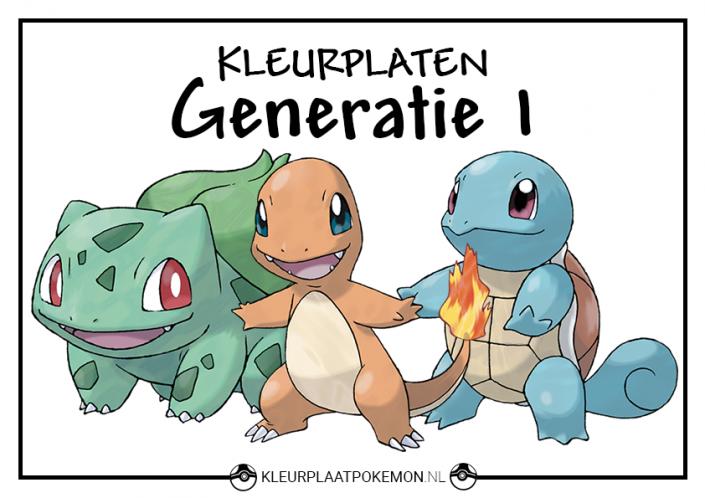 Pokemon generatie 1 kleurplaten