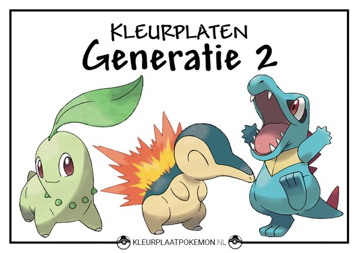 Pokemon generatie 2 kleurplaten
