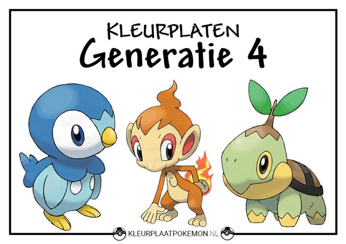 Pokemon generatie 4 kleurplaten