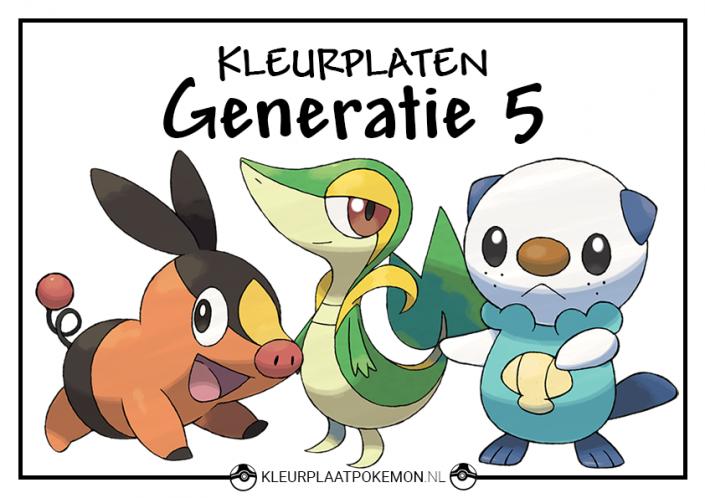 Pokemon generatie 5 kleurplaten