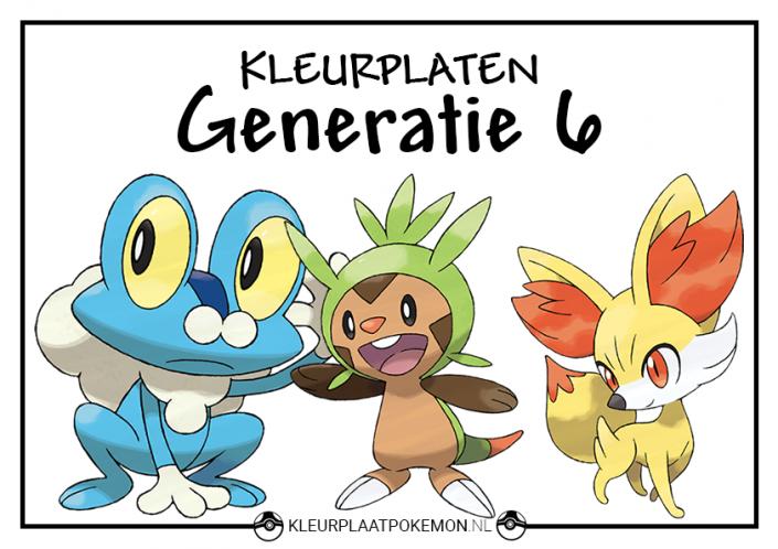 Pokemon generatie 6 kleurplaten