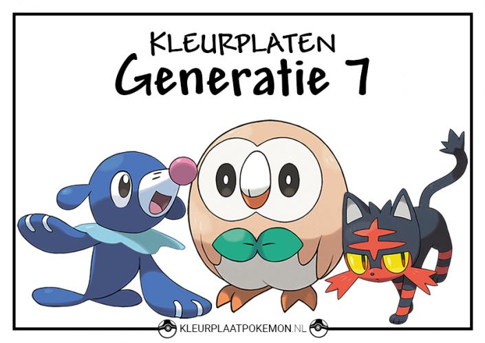 Pokemon generatie 7 kleurplaten